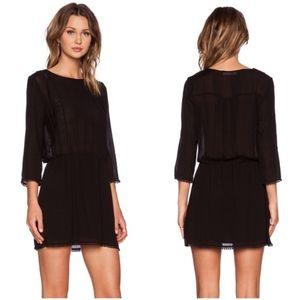 ANINE BING | Sheer Mini Dress Lace Pom Black Med